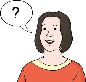 Bild: Sprechblase mit Fragezeichen