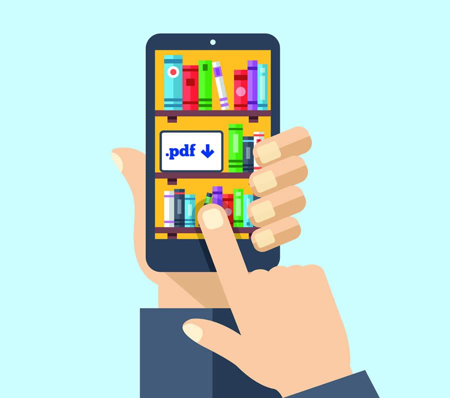 Bild: Smartphone mit Downloads