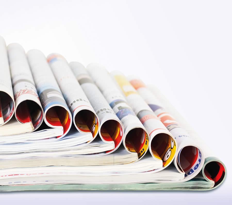 Bild: Zeitschriften aufeinander gestapelt