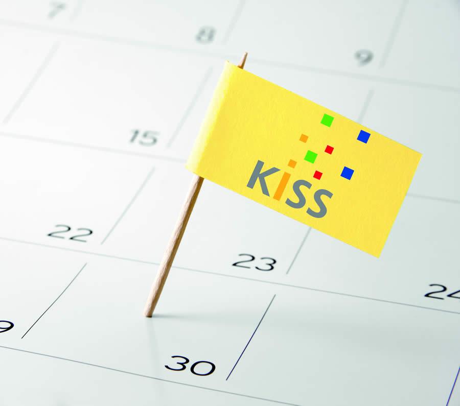 Bild: KISS Fahne auf Kalender