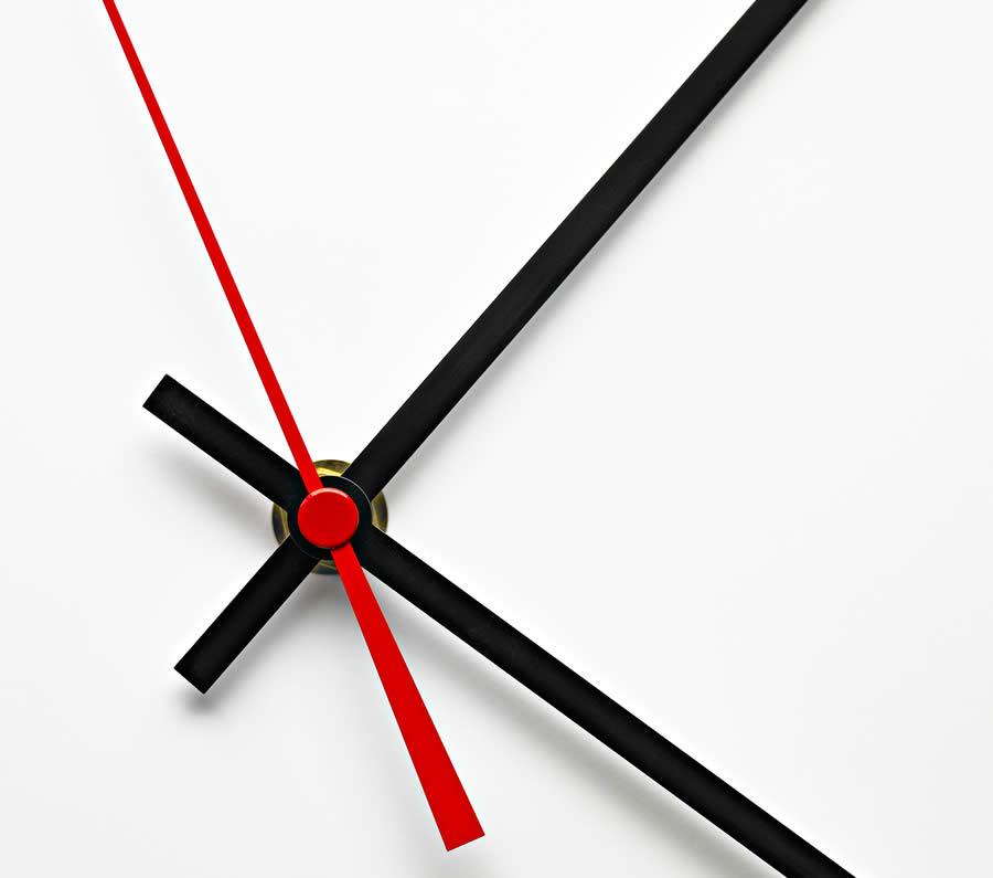 Bild: Zeiger einer Uhr