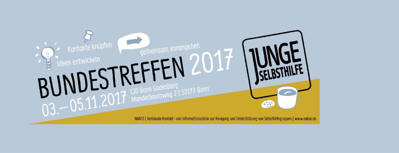 Banner: Bundestreffen Junge Selbsthilfe 2017
