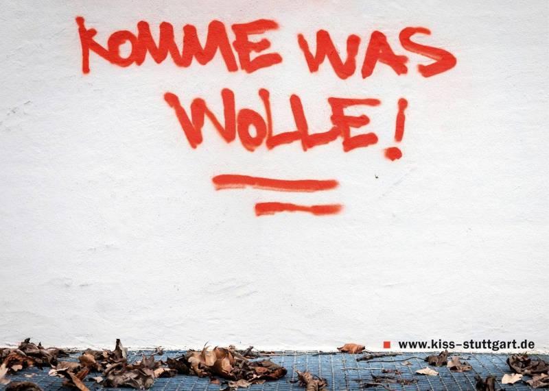 Bild: Postkartenmotiv Komme was wolle