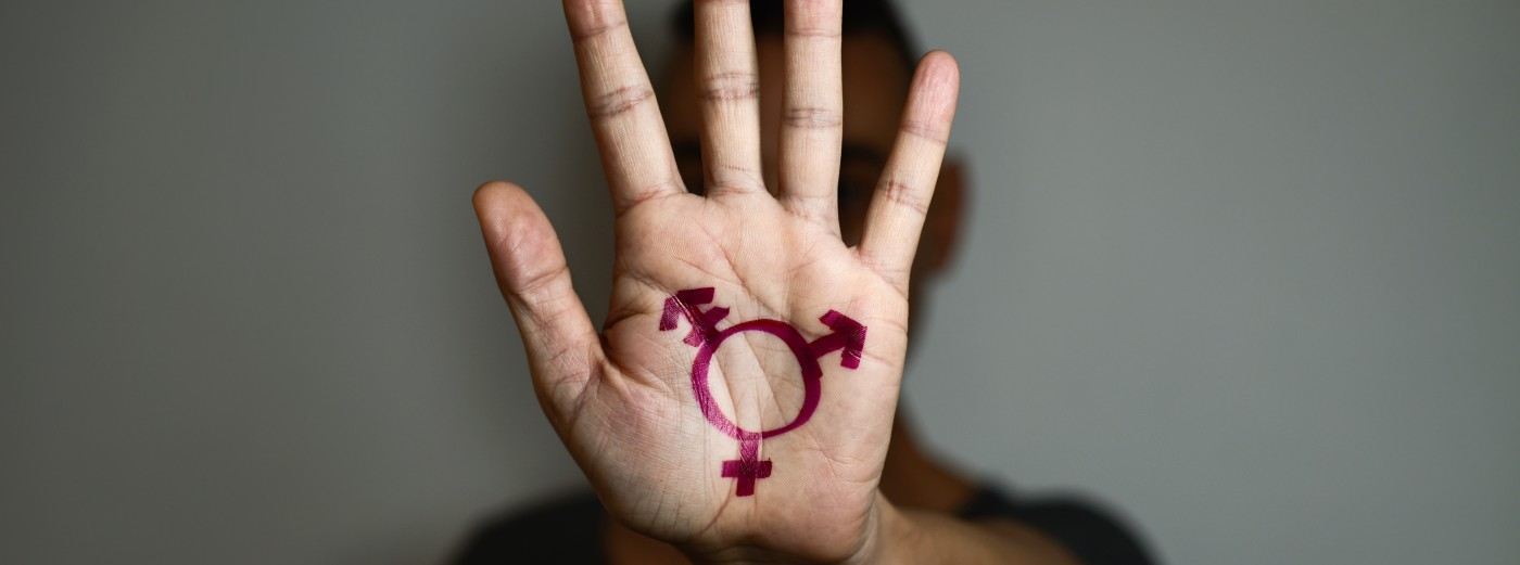 Bild: Banner Transmenschen und Intersexuelle mit Gewalt- und Missbrauchserfahrungen