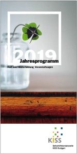 Bild: Titelseite des Jahresprogramms 2019 mit vierblättrigem Kleeblatt