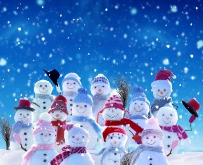 Bild: Schneemänner