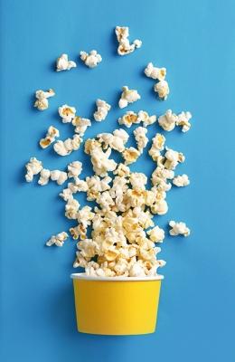 Bild: verstreutes Popcorn