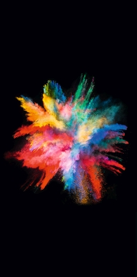 Bild: Farbpulverexplosion