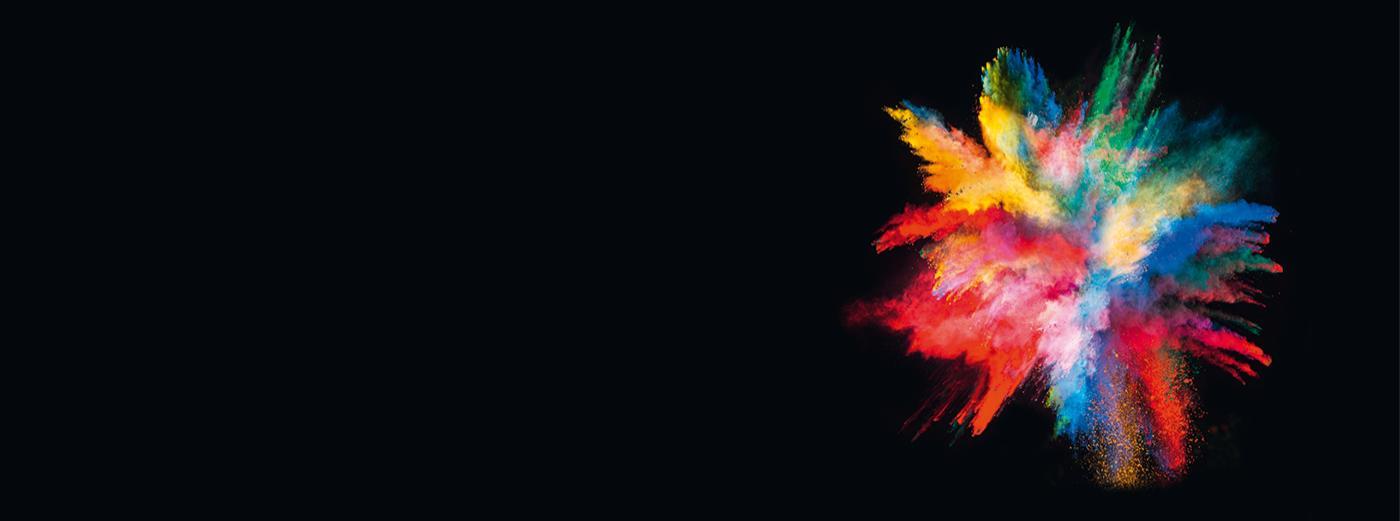 Bild: Banner Farbexplosion