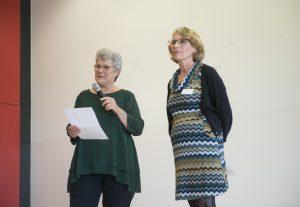 Bild: Aufsichtsratsvorsitzende Waltraud Trukses und Vorständin Hilde Rutsch
