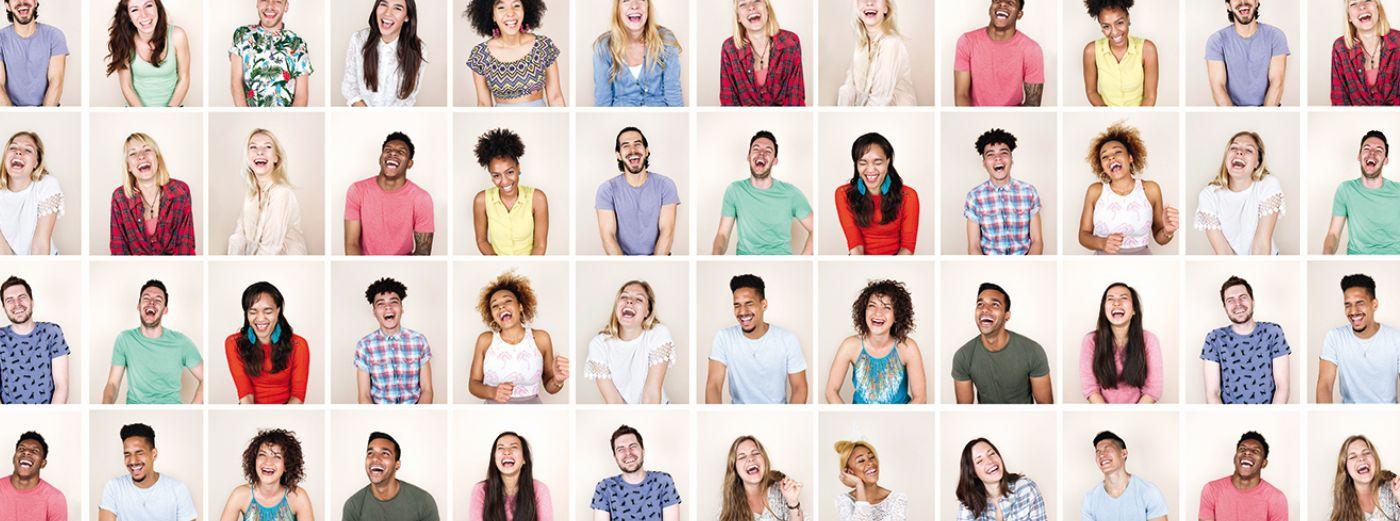 Bild: Banner lachende Menschen