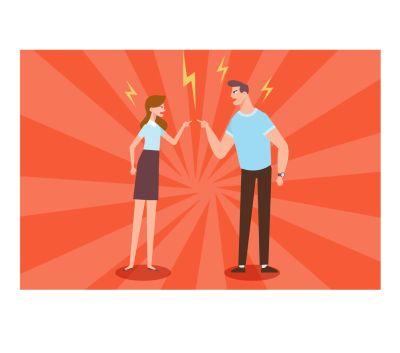Bild: zwei Menschen streiten