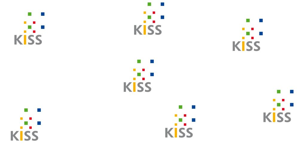 Bild: KISS Logos unterschiedlich angeordnet