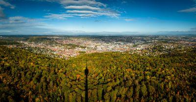 Bild: Stuttgart vom Fernsehturm aus