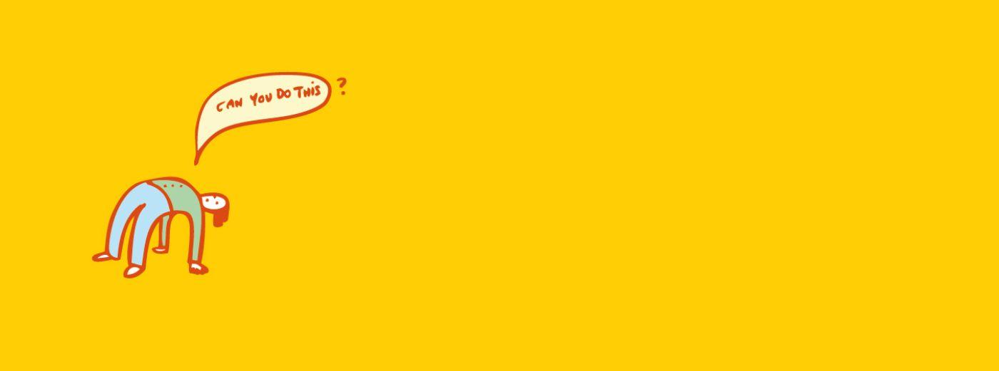 Bild: Banner Mensch über Kopf, Trickfilmworkshop für jugne Selbsthilfeaktive