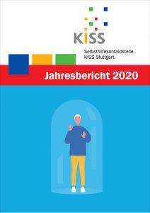 Bild: Titelseite Jahresbericht 2020 mit Person eingeschlossen hinter Glaskuppel