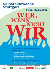 Bild: Plakat Selbsthilfewoche mit Händen, die das Wort WIR tragen